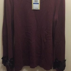 Nice burgundy MK sweater.